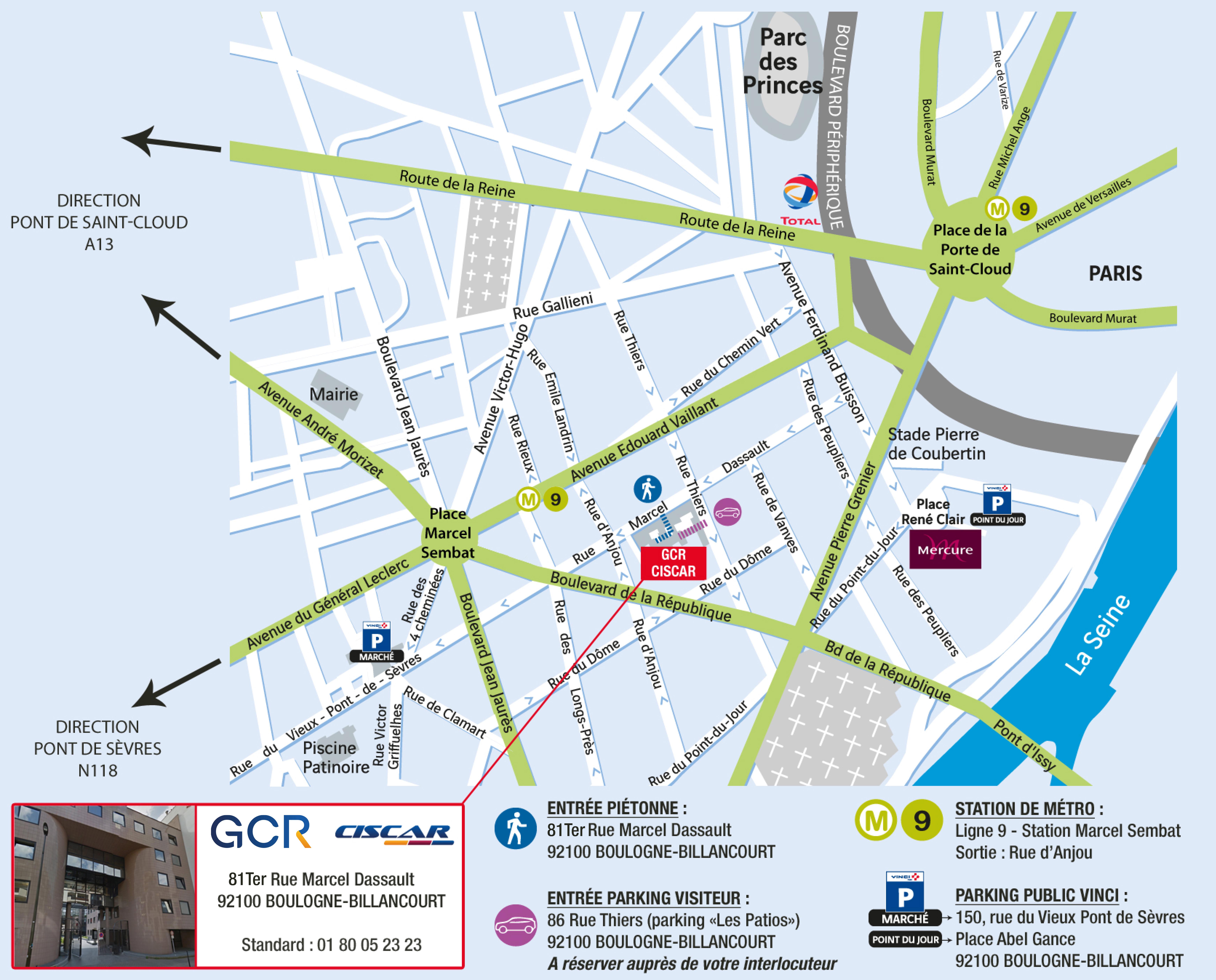 Plan d'accès Nouveaux Locaux